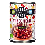 Free & Easy Organic Three Bean Chilli, 400g