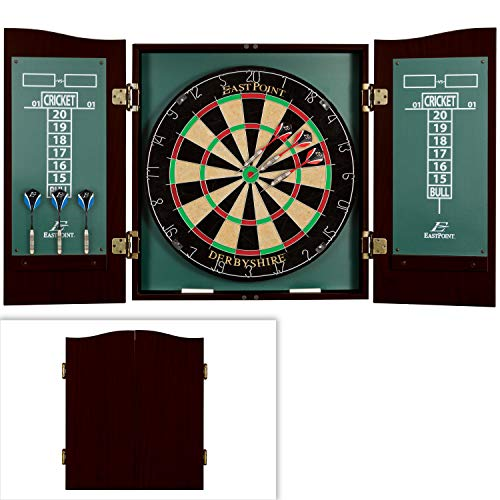 EastPoint Sports Derbyshire Bristle Dartboard and Cabinet Set Green