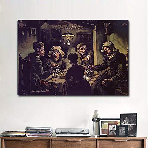HD-Druck auf der Leinwand an der Wand Kunst Poster des Kartoffel-Essers an der Wand Gemälde Gemälde Wohnkultur (ohne Rahmen) R1 30 x 45 cm