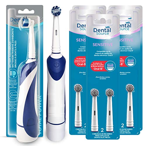Dental Source Pack Cepillo eléctrico de regalo + 10 Recambios SENSITIVE, Cabezales...