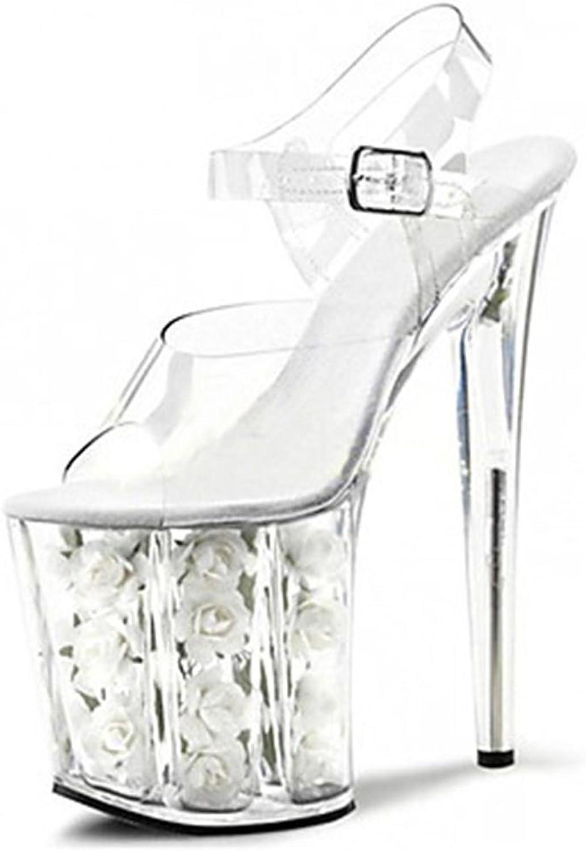 Lh yu Women Sandals Super High Heels Club Women's shoes Transparent PVC Platform Heels Sandals Wedding Party & Evening Dress Stiletto Heel