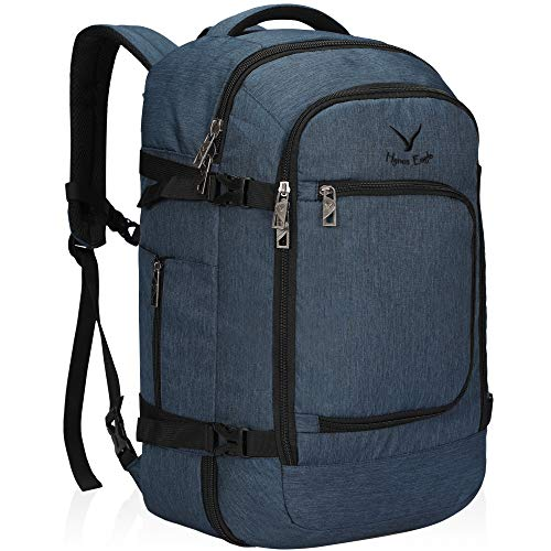 Hynes Eagle Travel Backpack 40L Flight Approved Carry on Backpack, Blue 2018