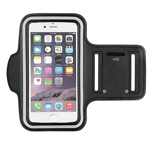 CoverKingz Sportarmband für Apple iPhone 8 Plus / iPhone 7 Plus - Armtasche mit Schlüsselfach iPhone 7 Plus/ 8 Plus - Sport Laufarmband Handy Armband Schwarz