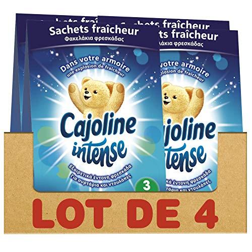 Cajoline Intense Sachets Parfumés d'Armoire Fraîcheur Printanière 12 Sachets (Lot de 4x3 Sachets)