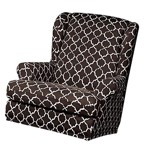 FLAMEER Ohrensessel Husse Bezug Schonbezug Elastische Überwurf Schutzhülle Sofabezug Sesselbezug für Fernsehsessel, TV Sessel, Polstersessel - Kaffee