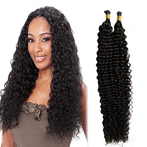 RemeeHi Extensions de cheveux brésiliens I Tip - Cheveux humains bouclés - 24 couleurs - 70 g - 40,6 cm - 27/613#