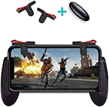 Best PUBG Mobile Controller Esma Game Controller, Cellphone Game Trigger, Ergonomic Design Handle Holder Handgrip Stand for 5.3-6.5inch Android iOS Phones for Battle Royale/Fortnite/PUBG (Black, A-R)