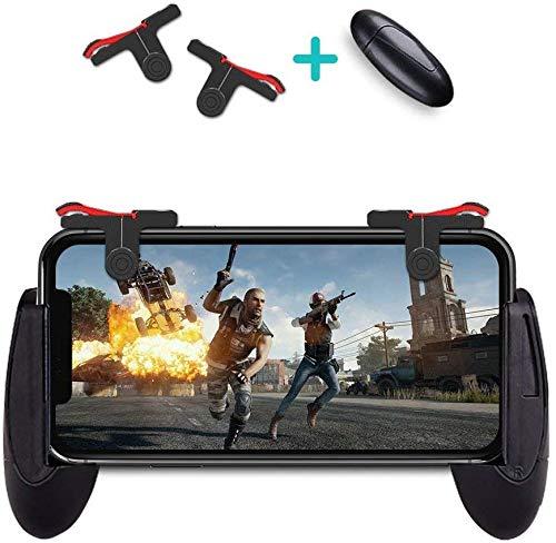 Best PUBG Mobile Controller Esma Game Controller, Cellphone Game Trigger, Ergonomic Design Handle Holder Handgrip Stand for 5.3-6.5inch Android iOS Phones for Battle Royale/Fortnite/PUBG (Black, A-R)
