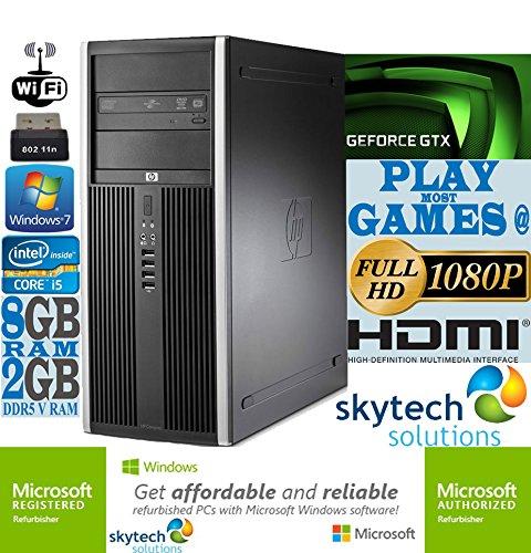 Ultra-Fast HP Gaming Computer Intel Quad Core i5 8GB RAM 500GB HDD Wi-Fi 2GB GDDR5 nVidia GeForce GTX 750 Ti Cheap PC