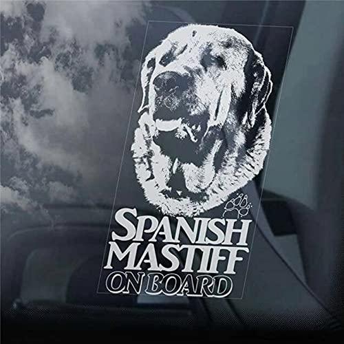 Pegatinas de mastín español a bordo para ventana de coche Mastin Espanol perro calcomanía vinilo troquelado pegatinas divertidas pegatinas parachoques