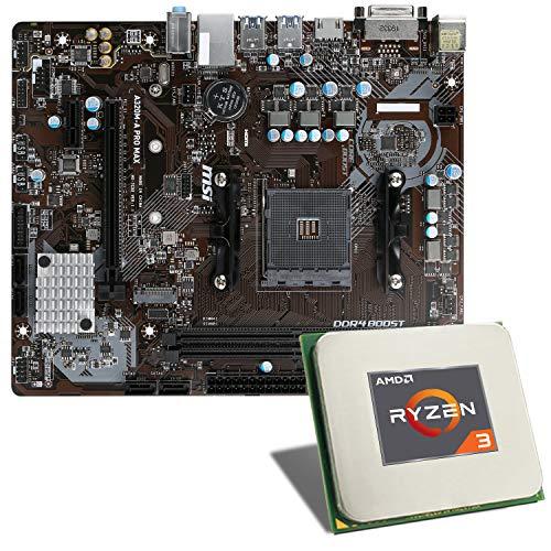 AMD Ryzen 3 3200G / MSI A320M-A PRO MAX Mainboard Bundle | CSL PC Aufrüstkit | AMD Ryzen 3 3200G 4X 3600 MHz, GigLAN, 7.1 Sound, USB 3.1 | Aufrüstset | PC Tuning Kit