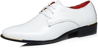 Best-choise Les Hommes Formels Oxfords Cuir Verni PU Bas Talon Bloc Lacent des Chaussures de Mocassins de Grande Taille Ac...