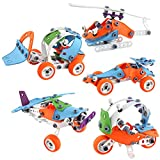 Vehículo de avión Juguete de avión desmontable, camión, excavadora, juguete de avión con destornillador adecuado para niños y niñas de 5 6 7 8 9 años 132 bloques de bricolaje, juguetes de cumpleaños y