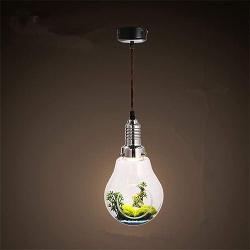 FHRIJGGV Ampoule en Verre Moderne Simple de personnalité créatrice Nordique de Deng, éclairage décoratif de Lustre d'usine Verte de Restaurant de Cour Rural