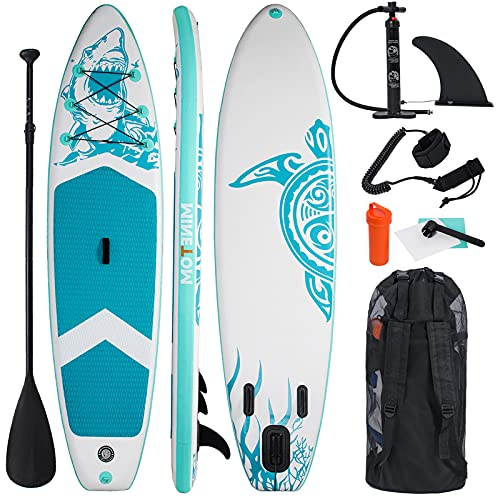 Tomwell Tabla de Surf Inflable De Pie para Principiantes Adultos, Yoga y Pesca de Excursión (Verde)
