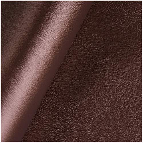 HWT-YB Cuero sintético marrón oscuro, 138 cm x 100 cm, 0,7 mm de grosor, tela de piel sintética para tapicería, manualidades, costura, sofá, bolso, forro para asiento de coche (tamaño: 4 m)