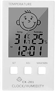 hkwshop Higrómetro para Interior 3 en 1 Reloj Digital Temperatura Higrómetro Registrador Meter Thermometre Termómetro Inte...