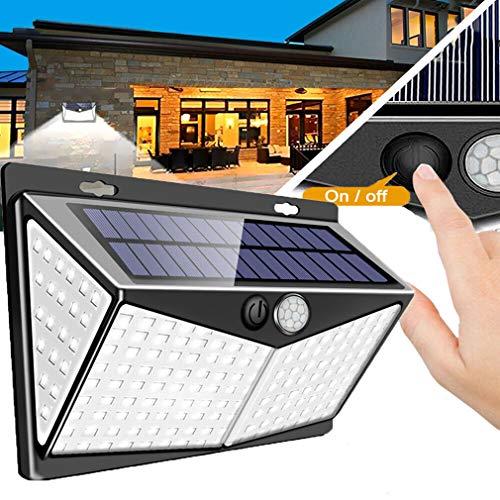 YDYG 208 LED-Solarleuchten, 3 Optionale Modi, Bewegungs-Sensor-Leuchten, mit 270 ° Weitwinkel, wasserdichte Sicherheits-Licht, für Fronttür Außen