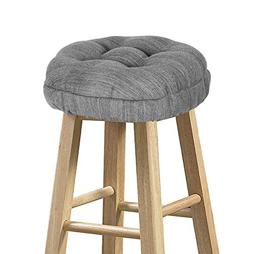 baibu Stool Covers Round, Super Soft Round Bar Stool Cushion Covers Seat Cushion - Cushion Only (Grey,12' (30cm))