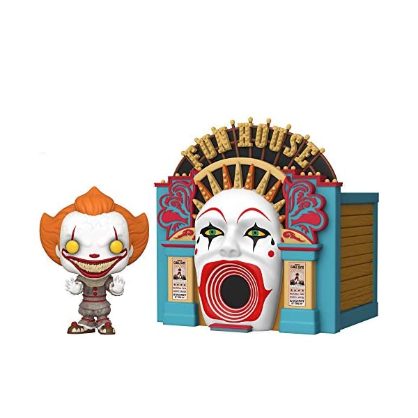 Funko- Pop Town: IT 2-Demonic Pennywise w/Funhouse Chapter 2 Balloon 15 Collectible Toy, Multicolor (45660) 1