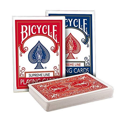 SOLOMAGIA 2 Mazzi di Carte Bicycle Supreme Line Red & Blue Back