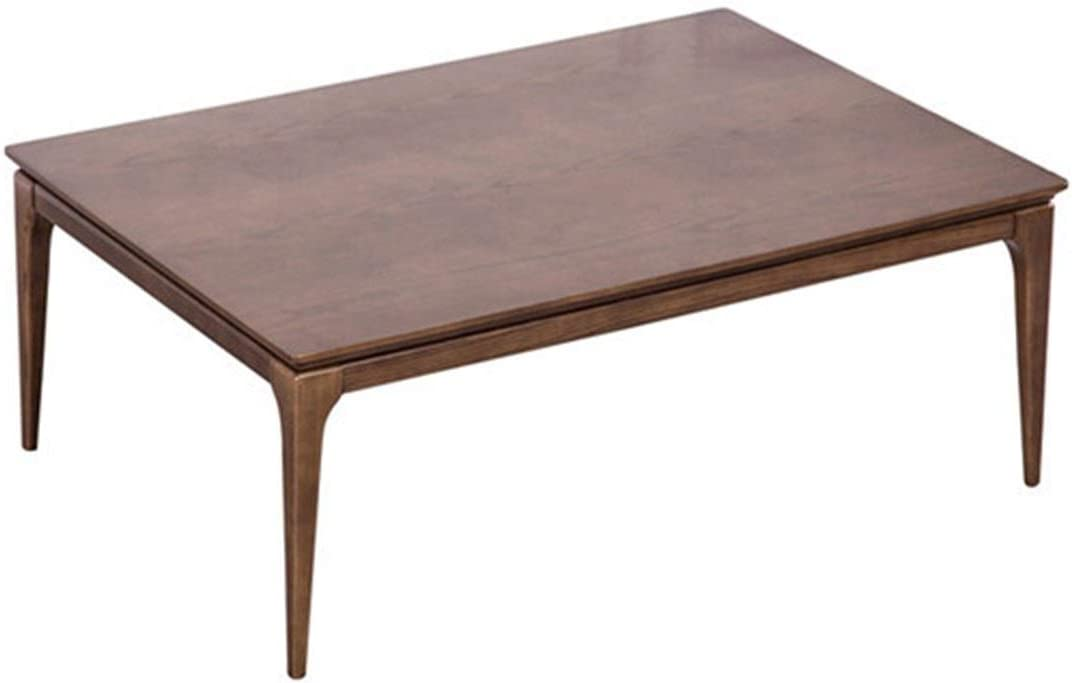 AntiGnor 2020 New Kotatsu Table Nordic Design Solid Oak Wood Japanese Furniture for Living Room Casual Heated Center Tea Tatami Table (Color : Brown Color)