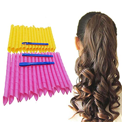 """Orgrimmar Magic Hair Curlers Curls Styling Kit, DIY No Heat Hair Curlers for Extra Long Hair up to 22"""" (55 cm) (30PCS 55cm/21.65"""")"""