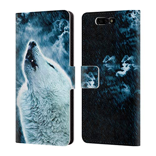 Head Case Designs Offizielle Simone Gatterwe Heulender Wolf Tiere 2 Leder Brieftaschen Huelle kompatibel mit Xiaomi Black Shark