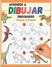 Aprender a Dibujar Dinosaurios Paso a Paso: varios dinosaurios para reproducir y colorear - libro de dibujos a color para niños y principiantes - regalo original
