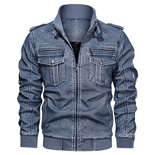 TZpick Heren Casual Mode PU Lederen Motorfiets Winter Grote Yards Plus Fluwelen Jas