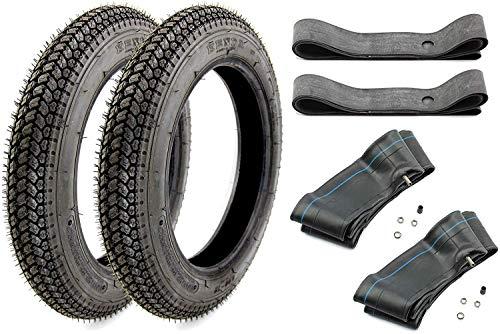 Set Kenda 2X Reifen K315 3,00 x 12 Zoll 47J TT + 2X Schlauch + 2X Felgenband