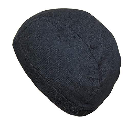 抗がん剤/医療用帽子マジックテープ付オーガニックインナーキャップオールシーズン日本製 (スモールサイズ, ブラック)