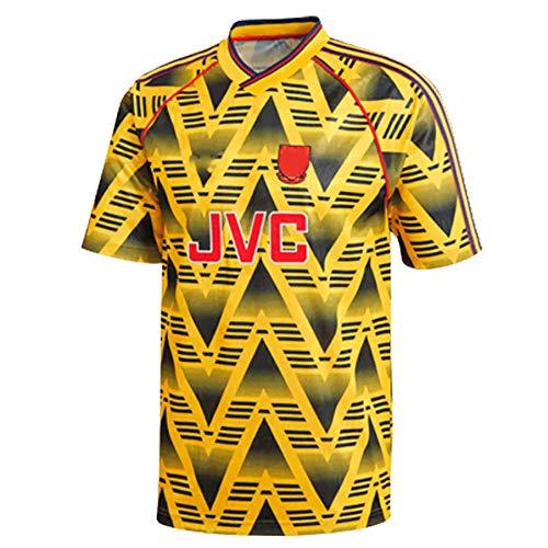 YLHLZZ Jersey Retro 91/93 Temporada Away Player Gunner Thierry Henry Bogkamp Camiseta de fútbol se Puede Lavar repetidamente L