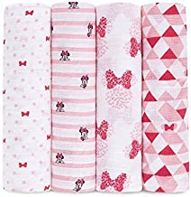 Aden by aden + anais Disney Swaddle Blanket | Muslin Blankets for Girls & Boys | Baby Receiving Swaddles | Ideal Newborn G...