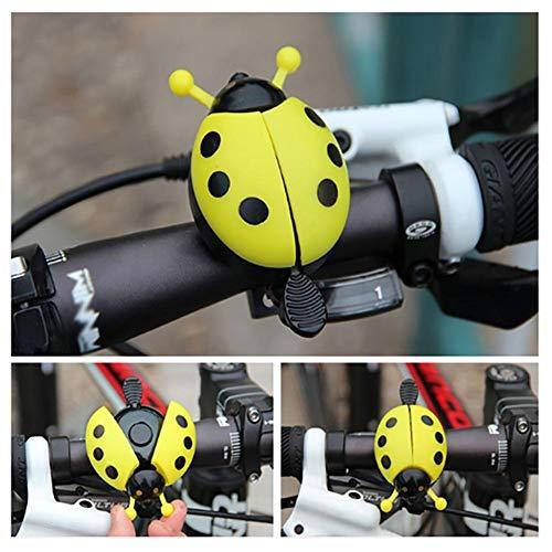 Cedarfiny Timbre para bicicleta de acero exquisito mariquita de plástico al aire libre diversión deportes crujiente sonido campana de bicicleta