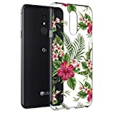 Case for LG Aristo 3/LG Aristo 2/LG Tribute Empire/LG Tribute Dynasty/Rebel 3 /Rebel 4 LTE, Ueokeird Slim Shockproof Clear Floral Soft Flexible TPU Phone Cover for LG Aristo 2 Plus (Green Flower)