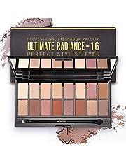 ONLYOILY Paleta cieni do powiek, 16 kolorów, matowe, błyszczące, brokatowe, paleta cieni do powiek do make-upu