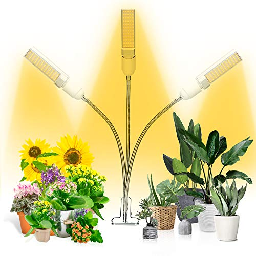 Sprig /& Sprout Full spectrum LED indoor clip anywhere plant grow light 360/º adjustable goosneck double strip plant lamp