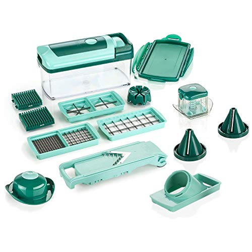 Genius Vegetable and Fruit Cutter, Mint Green, 26.5 x 11.5 x 14.5 cm