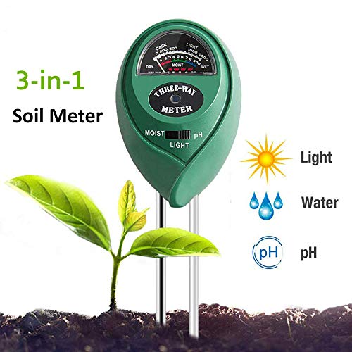 Best Price Adorma Soil pH Meter, 3-in-1 Soil Test Kit for Moisture,Light&pH Meter,Gardening Tool Kit...