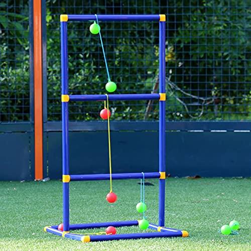 POHOVE Leitergolf Spiel Leiterspiel Wurfspiel mit 6 Golf Bolas Leitergolf Wurfspiel Gartenspielzeug Leitergolf Spiel Wurfspiel Leiter Ball wurfspiel für Gärten Parks(wie abgebildet)