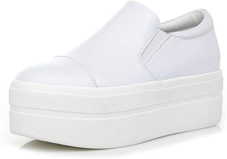 PP Fashion Women's Slip-on Leather Hidden Heel Formal Wedges Platform Sneakers Pumps Loafer