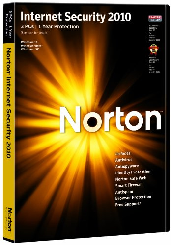 Norton Internet Security 2010 - 1 User 3 Computers (PC CD) [import anglais]