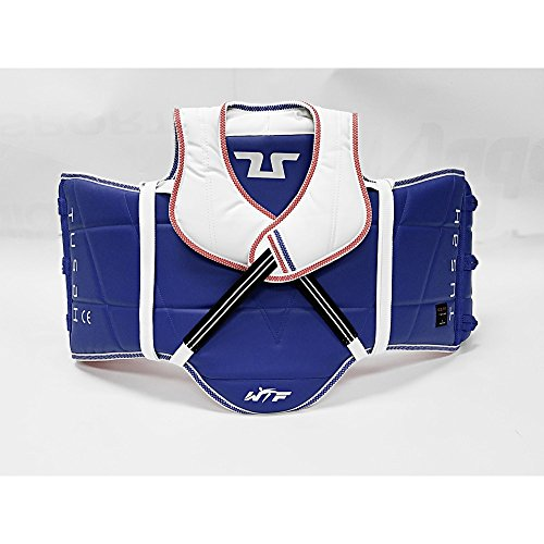 Tusah Taekwondo TKD Reversible Adult Chest Protector WTF Approved (Small (2))