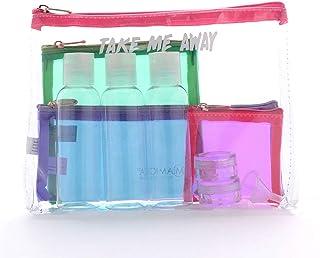 Miamica TSA Compliant Travel Bottles and Toiletry Bag Kit, 12-Piece, Take Me Away