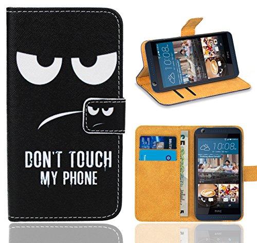 HTC Desire 626 626G Handy Tasche, FoneExpert® Wallet Case Flip Cover Hüllen Etui Ledertasche Lederhülle Premium Schutzhülle für HTC Desire 626 626G (Pattern 15)