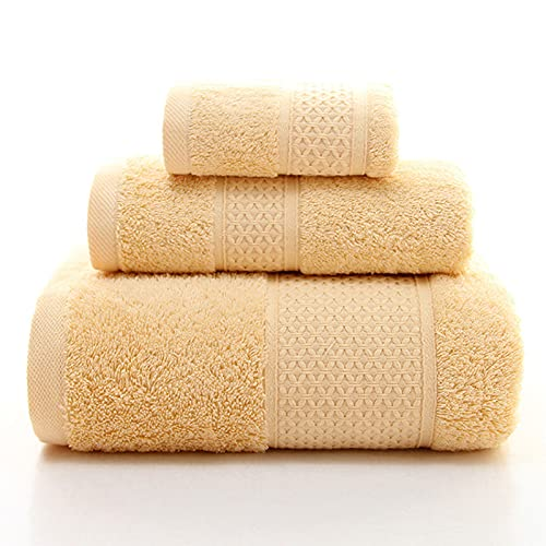 ZJM Juego de Toallas,Juego de 3 Piezas,1 * Toalla Cuadrada + 1 * Toalla + 1 * Toalla de baño,Juego de Toallas de baño,Toallas de Alta absorción,Toallas de baño de algodón