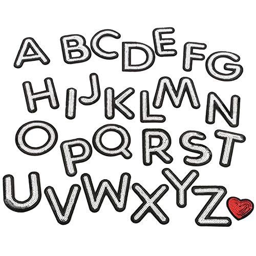 Milya Parche termoadhesivo para niños, diseño de alfabeto inglés de los 26...