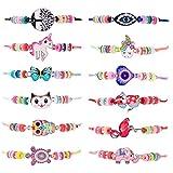 ZITFRI 12 PCS Bracelet Amitié Fille Bijoux Enfants - Petits Cadeaux Anniversaire Enfant Jouet Fille Bijoux Bracelet