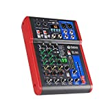 High sound quality! D Debra Audio Pro Portable Recording Mixer Audio With USB 99 DSP Digital Effects For DJ Mixer Console Karaoke Recording Studio (SI-4UX (4 Channel))